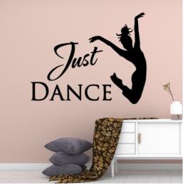Just Dance Yazısı Spor Salonu Duvar Stickerı