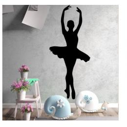 Bale Dansı Yazısı Spor Salonu Duvar Stickerı