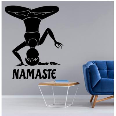 Yoga Namaste Yazısı Spor Salonu Duvar Stickerı