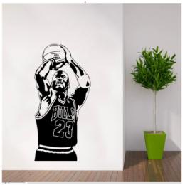 Basketbol Oyuncu Yazısı Spor Salonu Duvar Stickerı