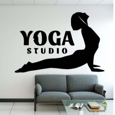 Yoga Stüdyosu Yazısı Spor Salonu Duvar Stickerı