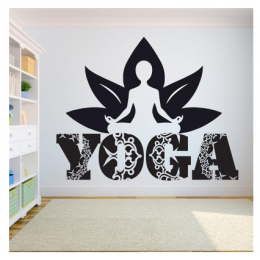Yoga Meditasyon Yazısı Spor Salonu Duvar Stickerı