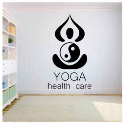 Yoga Health Care  Yazısı Spor Salonu Duvar Stickerı