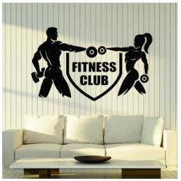 Spor Salonlarına Özel Fitness Kulübü Duvar Yazısı Cam Vitrin Sticker Yapıştırma