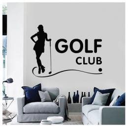 Spor Salonlarına Özel Golf Kulübü Duvar Yazısı Cam Vitrin Sticker Yapıştırma