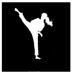 Spor Salonlarına Özel Karate Duvar Yazısı Cam Vitrin Sticker Yapıştırma