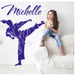 Spor Salonlarına Özel Karate Dövüş Sanatı Özel Ad Duvar Yazısı Cam Vitrin Sticker Yapıştırma