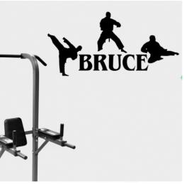 Spor Salonlarına Özel Bruce Dövüş Sanatları Duvar Yazısı Cam Vitrin Sticker Yapıştırma