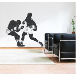 Spor Salonlarına Özel Boks Maçı Duvar Yazısı Cam Vitrin Sticker Yapıştırma