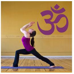 Spor Salonlarına Özel Yoga Logo  Duvar Yazısı Cam Vitrin Sticker Yapıştırma