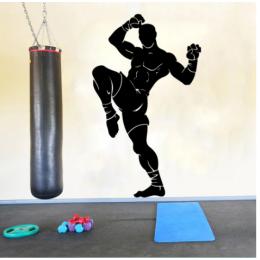Spor Salonlarına Özel Fighter Muay Thai  Duvar Yazısı Cam Vitrin Sticker Yapıştırma