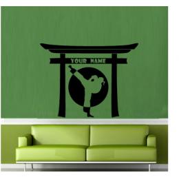 Spor Salonlarına Özel Kişisel Adı Taekwondo Duvar Yazısı Cam Vitrin Sticker Yapıştırma