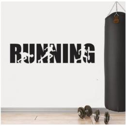 Spor Salonlarına Özel Running Duvar Yazısı Cam Vitrin Sticker Yapıştırma