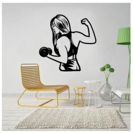 Spor Salonlarına Özel Kadın Antrenman Duvar Yazısı Cam Vitrin Sticker Yapıştırma