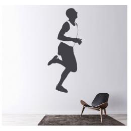 Spor Salonlarına Özel Marathon Man Runner  Duvar Yazısı Cam Vitrin Sticker Yapıştırma