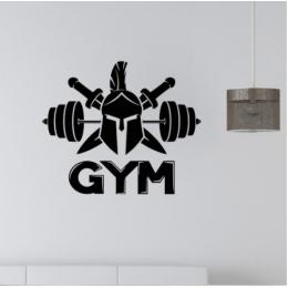 Spor Salonlarına Özel Savaşcı Kask Halter  Duvar Yazısı Cam Vitrin Sticker Yapıştırma