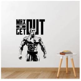 Spor Salonlarına Özel Arnold Schwarzenegger  Duvar Yazısı Cam Vitrin Sticker Yapıştırma