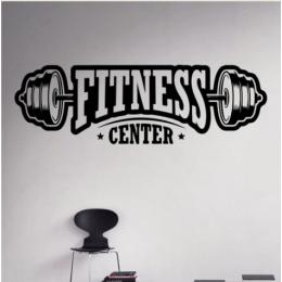 Spor Salonlarına Özel Fitness Center  Duvar Yazısı Cam Vitrin Sticker Yapıştırma