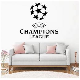 Spor Salonlarına Özel Futbol Şampiyonları  Duvar Yazısı Cam Vitrin Sticker Yapıştırma
