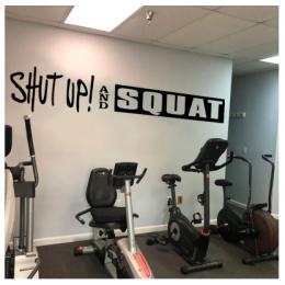 Spor Salonlarına Özel Squat Duvar Yazısı Cam Vitrin Sticker Yapıştırma