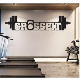 Spor Salonlarına Özel Crossfit Duvar Yazısı Cam Vitrin Sticker Yapıştırma