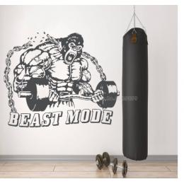 Spor Salonlarına Özel King Kong  Duvar Yazısı Cam Vitrin Sticker Yapıştırma