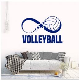 Spor Salonlarına Özel Infinity Voleybol   Duvar Yazısı Cam Vitrin Sticker Yapıştırma