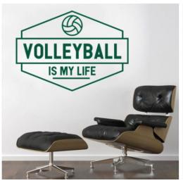 Spor Salonlarına Özel Volleyball  İs My Life Duvar Yazısı Cam Vitrin Sticker Yapıştırma