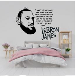 Spor Salonlarına Özel Lebron James Yazısı Cam Vitrin Sticker Yapıştırma