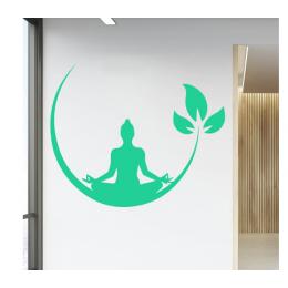 Spor Salonlarına Özel Yoga Meditasyon Yazısı Cam Vitrin Sticker Yapıştırma