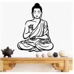Spor Salonlarına Özel  Om Yoga Meditasyon Yazısı Cam Vitrin Sticker Yapıştırma