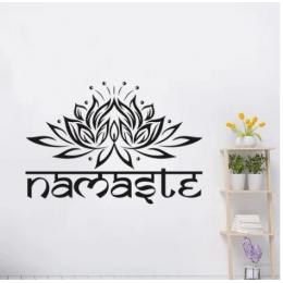 Spor Salonlarına Özel Hint Namaste Yazısı Cam Vitrin Sticker Yapıştırma