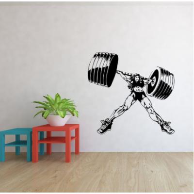 Kadın Halter Yazısı Spor Salonu Duvar Stickerı