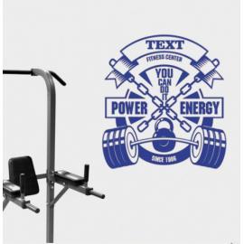 Power Energy Yazısı Spor Salonu Duvar Stickerı