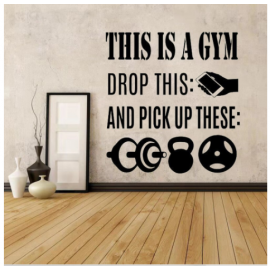 This Is A Gym Yazısı Spor Salonu Duvar Stickerı
