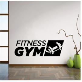 FITNESS GYM  Yazısı Spor Salonu Duvar Stickerı