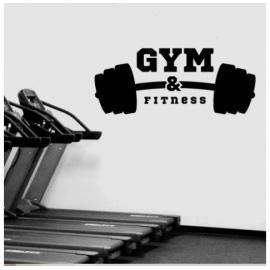 Gym Fitness Halter Yazısı Spor Salonu Duvar Stickerı
