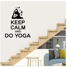 Keep Calm  and Do Yoga Yazısı Spor Salonu Duvar Stickerı