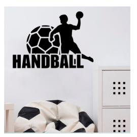 Handball  Yazısı Spor Salonu Duvar Stickerı