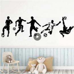 Diy Beckham futbol vinil duvar Sticker erkek gençlik yatak odası dekoru çıkartmaları duvar çıkartmaları Boys odası duvar kağıdı voetbal çıkartmalar