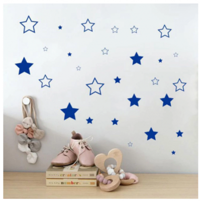 Sevimli yıldız duvar Sticker vinil ev dekor için çocuk çocuk odası kreş dekorasyon bebek yatak odası çıkartmaları ev eşyaları NR10