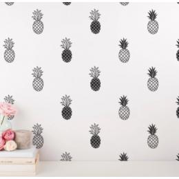 Modern vinil ananas duvar çıkartması ev tropikal dekor, benzersiz altın ananas çıkartması çocuklar için kreş odası sevimli duvar Sticker duvar