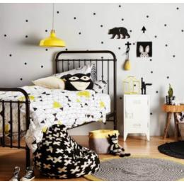 Siyah noktalar duvar çıkartmaları çocuk odası için bebek kreş çıkartmaları ev dekor çocuk duvar Sticker için bebek odası çocuk ev dekorasyon