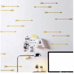 Ok duvar çıkartmaları, oklar desen duvar Sticker çıkarılabilir çocuk odası dekorasyon sanat duvar dekorları ücretsiz kargo 24 adet set