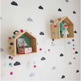 Erkek bebek odaları küçük bulut çocuklar yatak odası duvar Sticker çocuk odası ev dekor için bebek kız odası duvar çıkartmaları ev dekorasyon