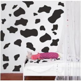 50 adet karikatür inek nokta duvar Sticker kreş çocuk odası hayvan süt inek derisi nokta duvar çıkartması yatak odası oyun odası vinil dekor