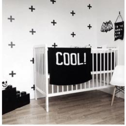 Bebek odası İskandinav tarzı çapraz duvar çıkartmaları vinil duvar ev dekoratif çocuk odası duvar çıkartmaları çıkarılabilir etiket