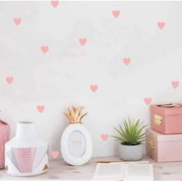 Bebek kalp duvar Sticker çocuk odası için bebek kız odası dekoratif çıkartmalar kreş yatak odası çocuk duvar çıkartmaları ev dekorasyon