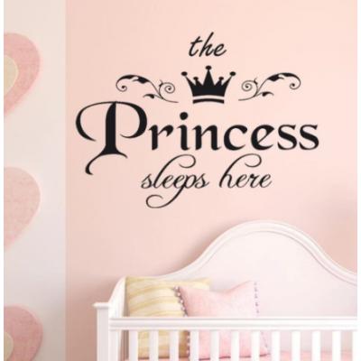 Taç Mektup Kız duvar çıkartmaları DIY Prenses Duvar Sticker Çocuk Odaları Için Bebek Odası Yurt Dekorasyon