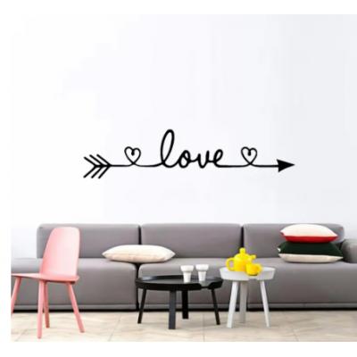 Ücretsiz kargo aşk duvar Sticker ev dekorasyon yatak odası oturma odası dekor duvar çıkartmaları duvar vinil dekoratif duvar kağıdı